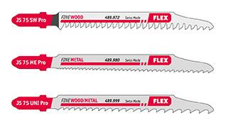 Stichsägeblatt-Sortiment für Holz, Metall, Demontage JS 75 Pro Set VE 3